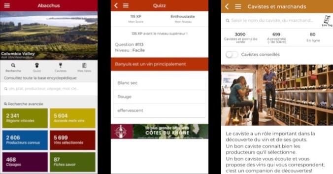 blog vin Beaux-Vins application applications 2019 smartphone oenologie abacchus fonctionnalités