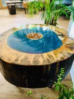 Baumstamm Möbel   Couchtisch mit Epoxidharz   Beaver Design
