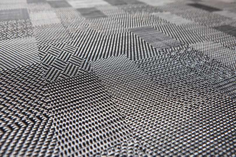 Black And White Bolon Floor