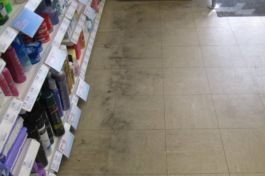 Dirty Pharmacy Floor