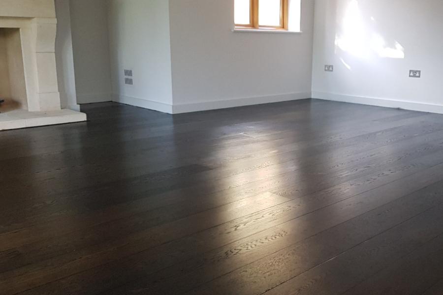 oiled dark wood floor