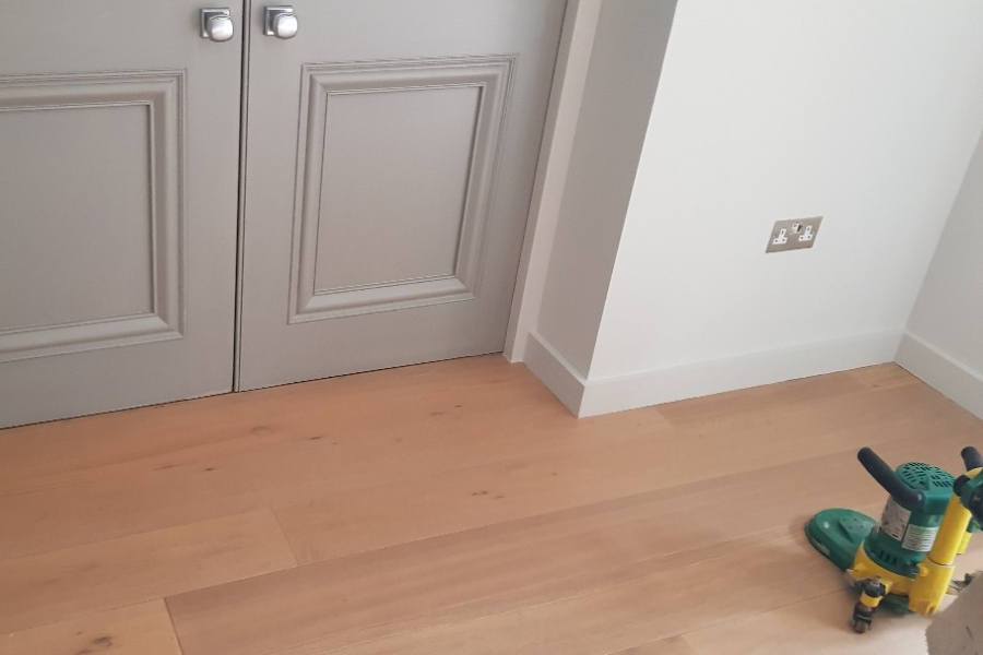 wood floor edge sanding