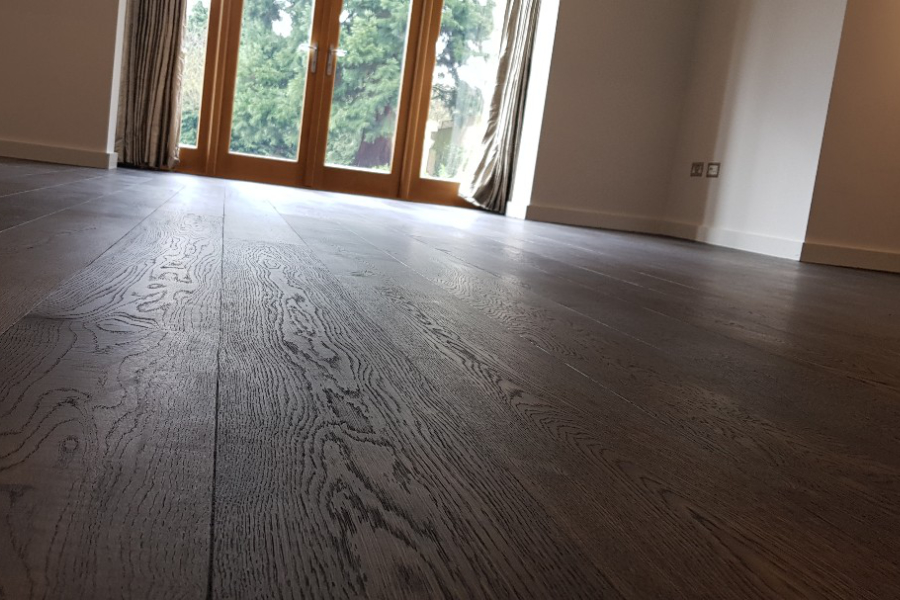 stained wood floor