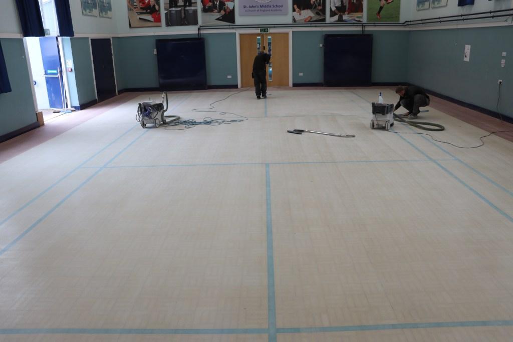 Granwoof Floor Restoration, Vacuum and Tack off