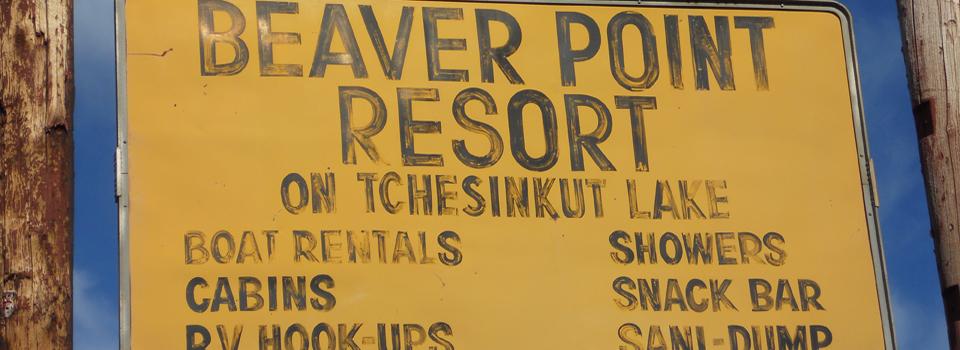 Beaver Point Resort Sign