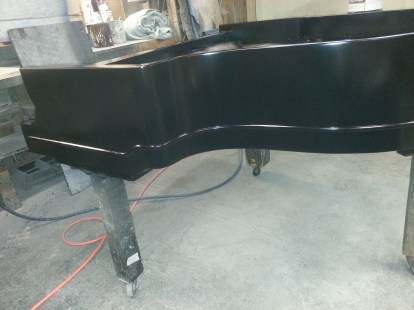 Treble side view all finished