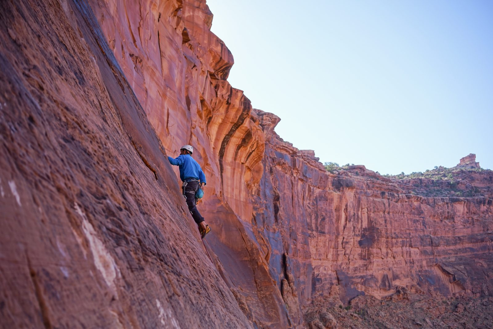 climber on cliff