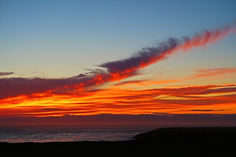 Sunset at St David's, Wales. Credit: James Wallace