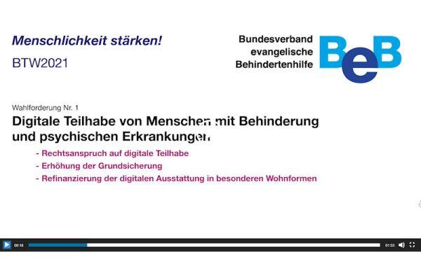 Forderung 1 aus Positionen des BeB zur Bundestagswahl 2021