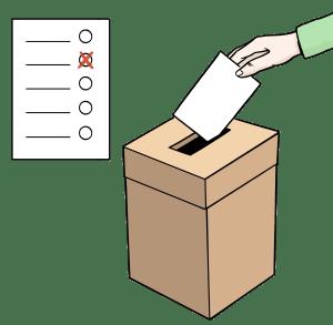 Illustration einer Wahlbox