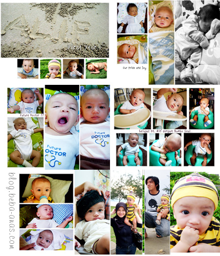 baby photobook layout