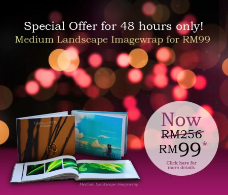Imagewrap Hardcover photobook at RM99