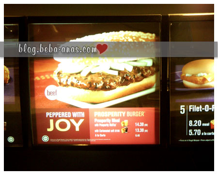 mcd prosperity burger
