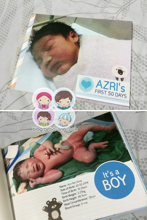 Azri's First 50 days photobook