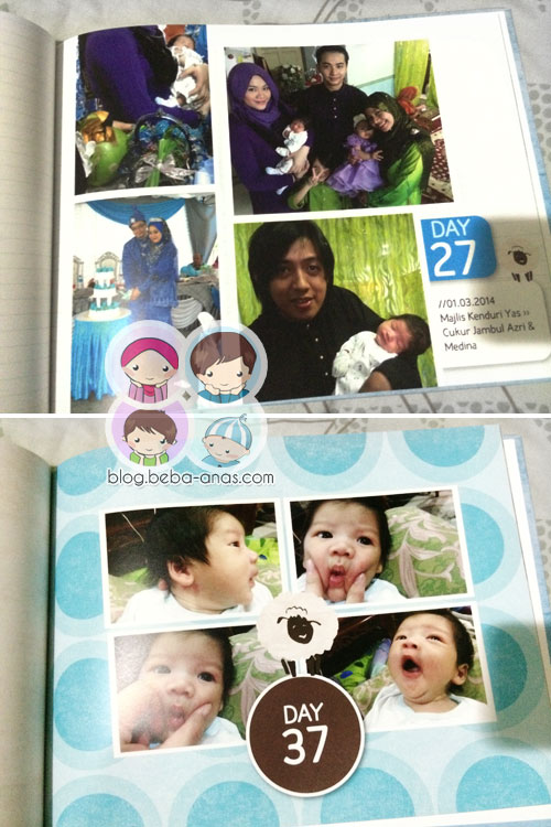 Azri's First 50 days photobook - day 27 and 37