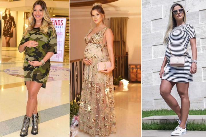 Moda gestante: os looks usados por Andressa Suita na gravidez | Bebe.com.br