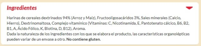blevit ingredientes