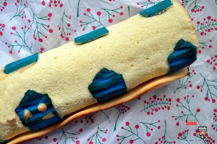 Receta de Swiss Roll o rollo de bizcocho con dibujos de tardis para cocina friki