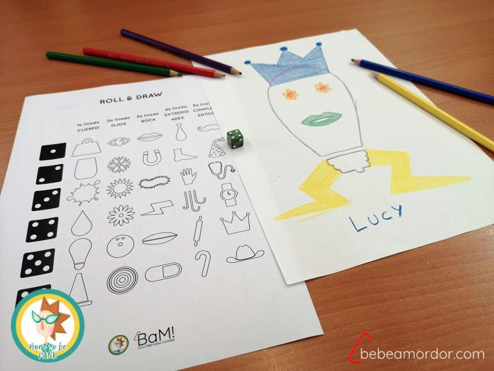 juego Roll&Draw Roll & Write imprimibles gratis