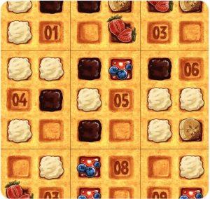 juego imprimible Waffle Hassle Llama Dice
