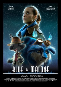 Cartel película BLue and Malone Aura Garrido