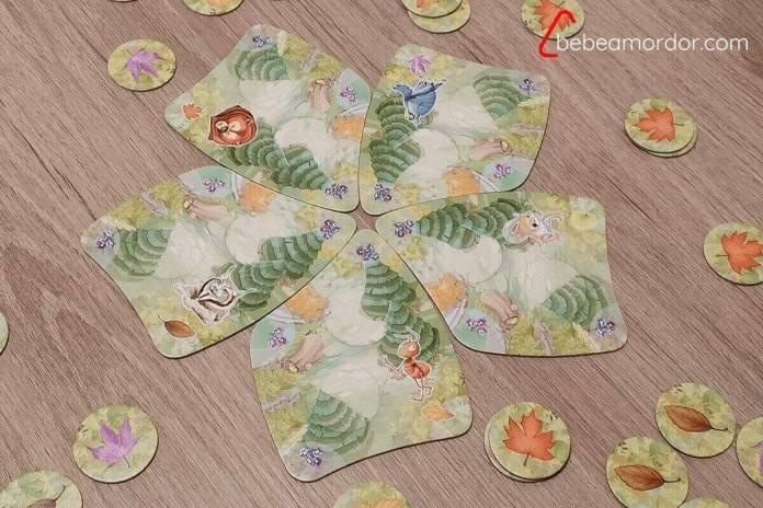 ilustraciones de Amelia Sales de juego de mesa Ardillas del Bosque