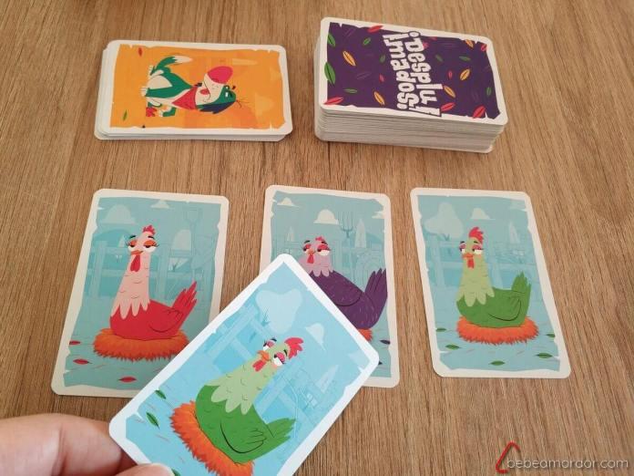 Pradera juego de cartas Desplumados