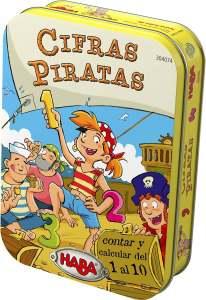 caja de lata de Cifras Piratas juego de mesa