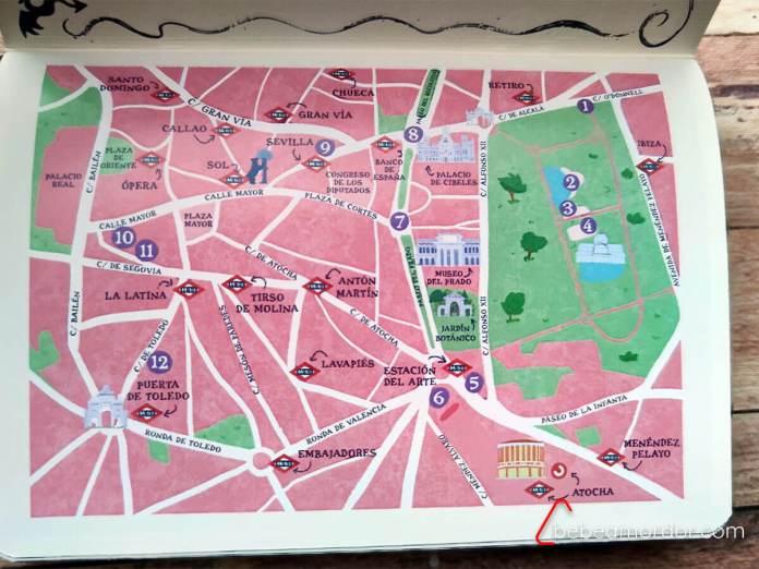 mapa ruta dragones madrid