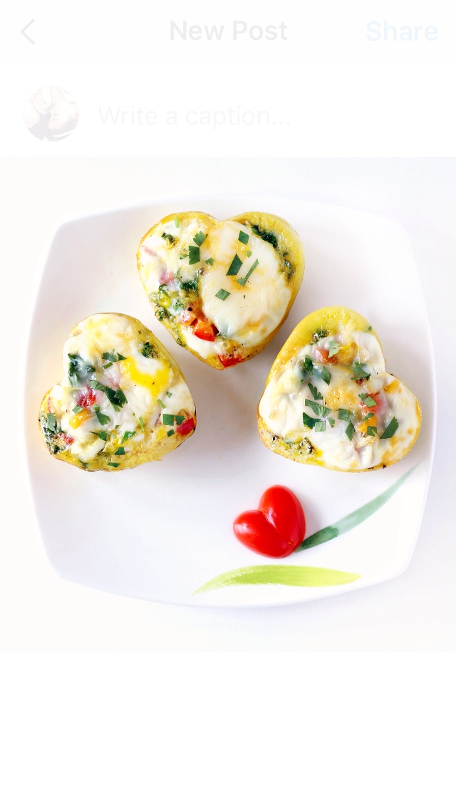 Valentine Breakfast: Heart-Shaped Egg Muffins