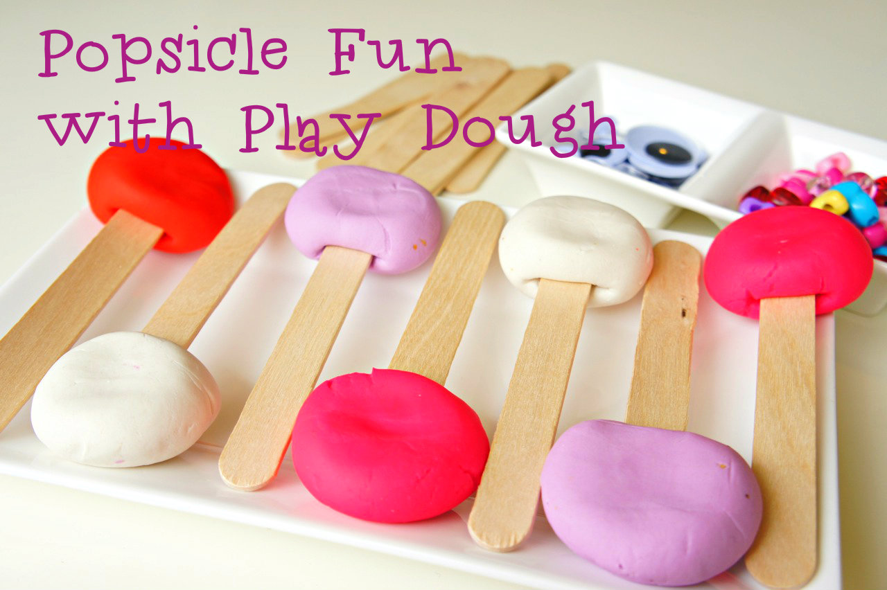 Popsicle Fun with Play Dough