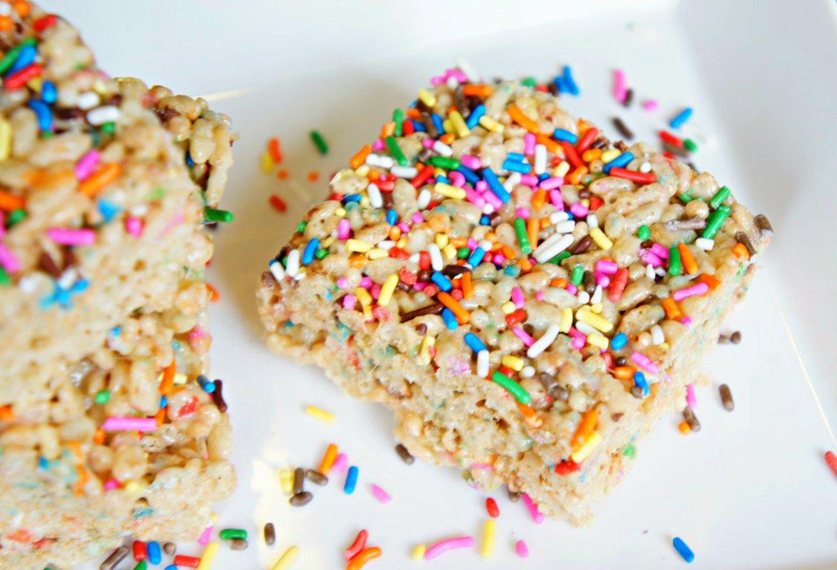 Surefire Bake Sale Item Cake Batter Rice Krispies With
