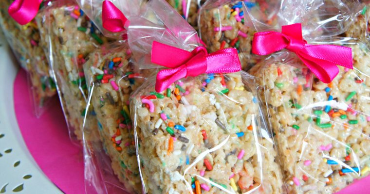 Surefire Bake Sale Item: Cake Batter Rice Krispies With Sprinkles