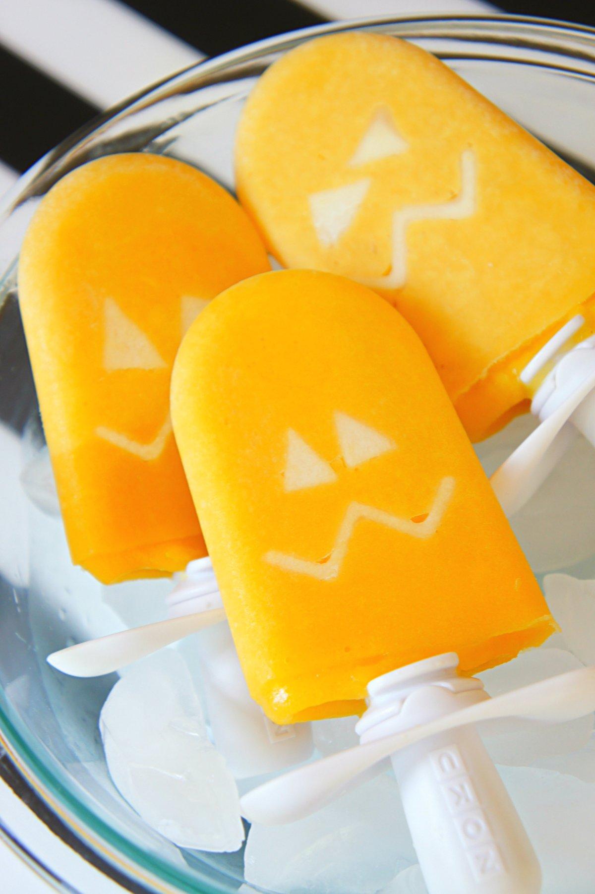 Jack-O-Lantern Ice pops