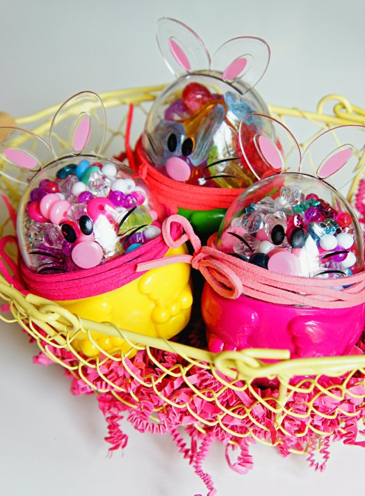 Candy Free Easter Eggs: Beads and String