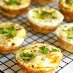 Easy Muffin Tin Parmesan Pesto Egg in a Basket