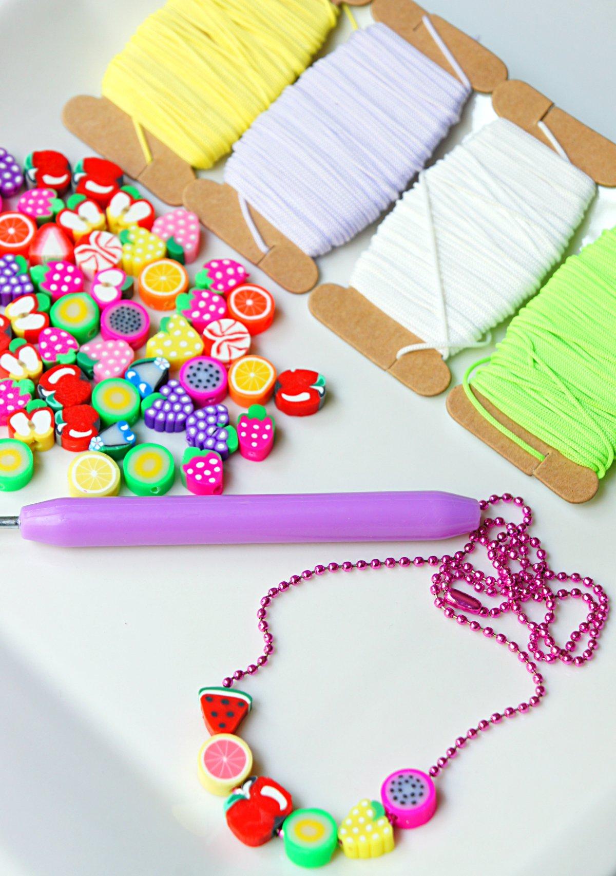 Summer Fruit Bead Necklace Craft