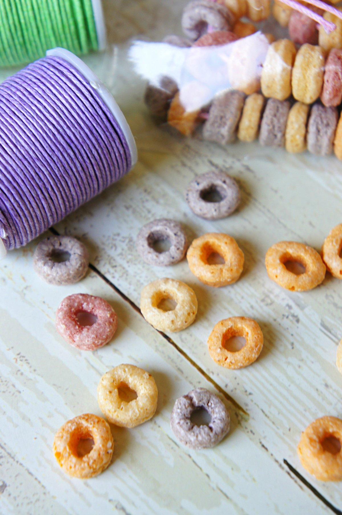 Fun for Kids, Alternative Bake Sale Idea: Rainbow O's Edible Necklaces