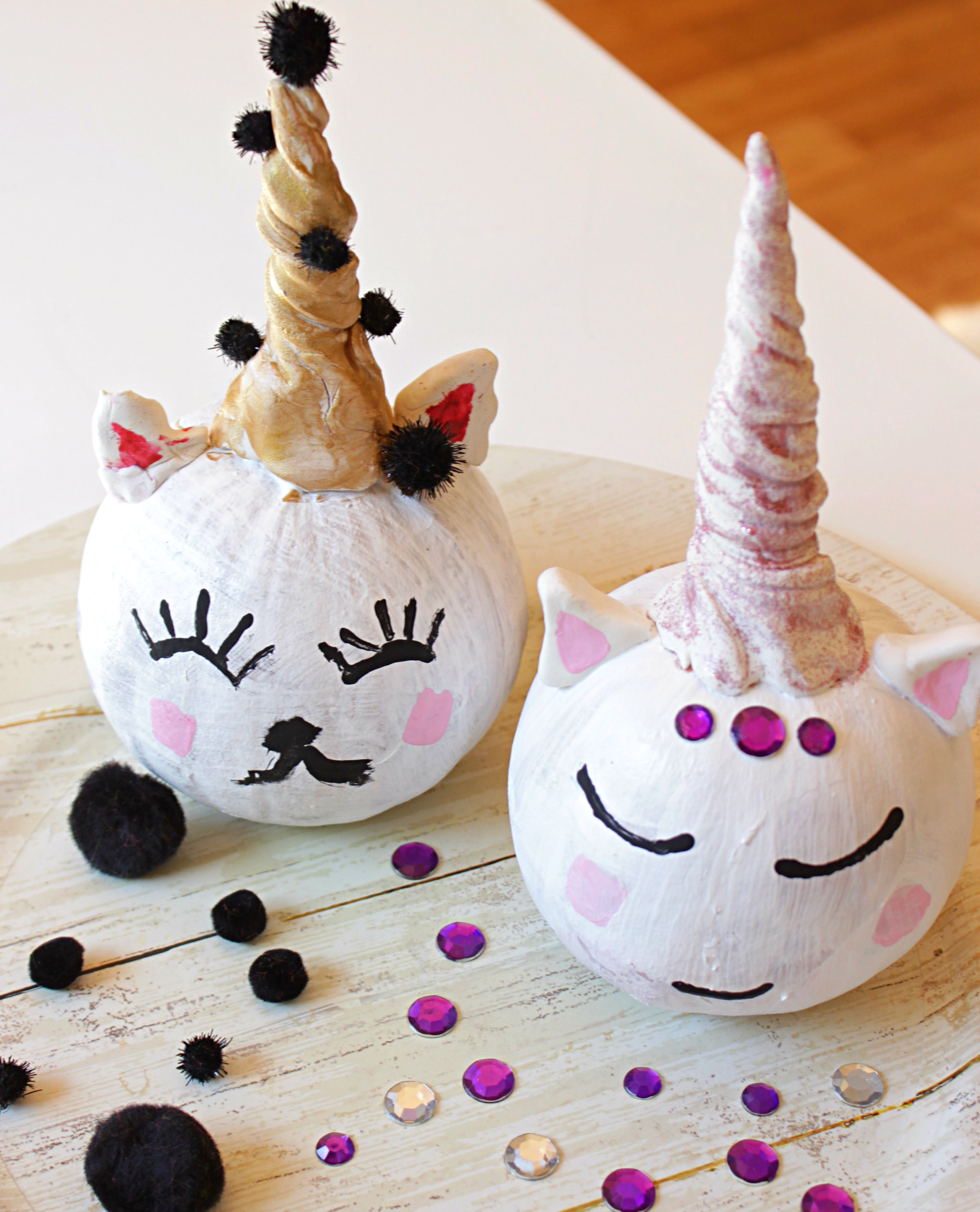 creative unicorn monster and cat pumpkins for kids bebe and bear