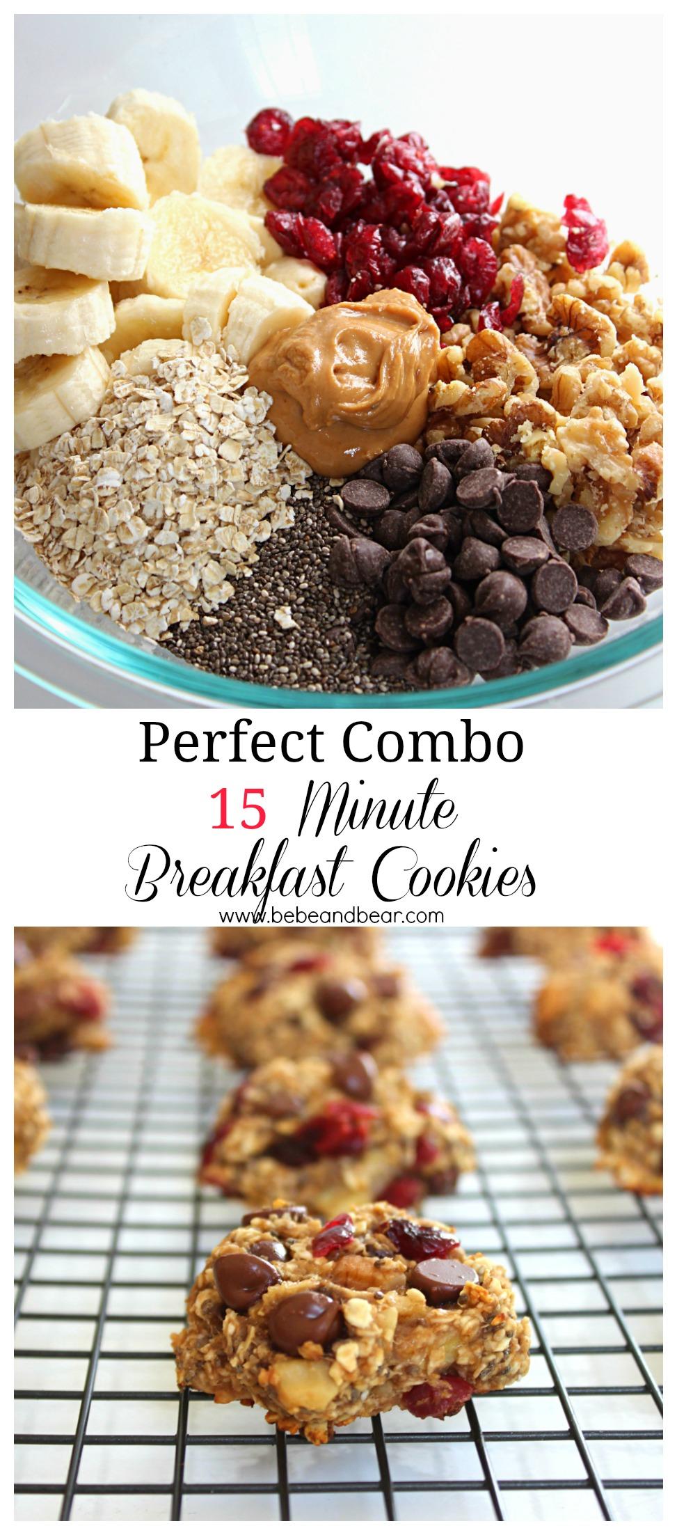 Perfect Combo 15 minute healthy breakfast cookies.