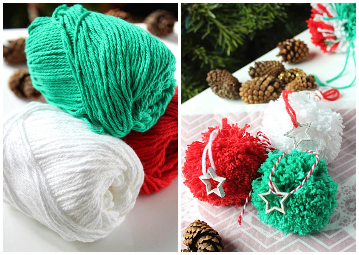 Pom Pom Christmas Tree Ornament