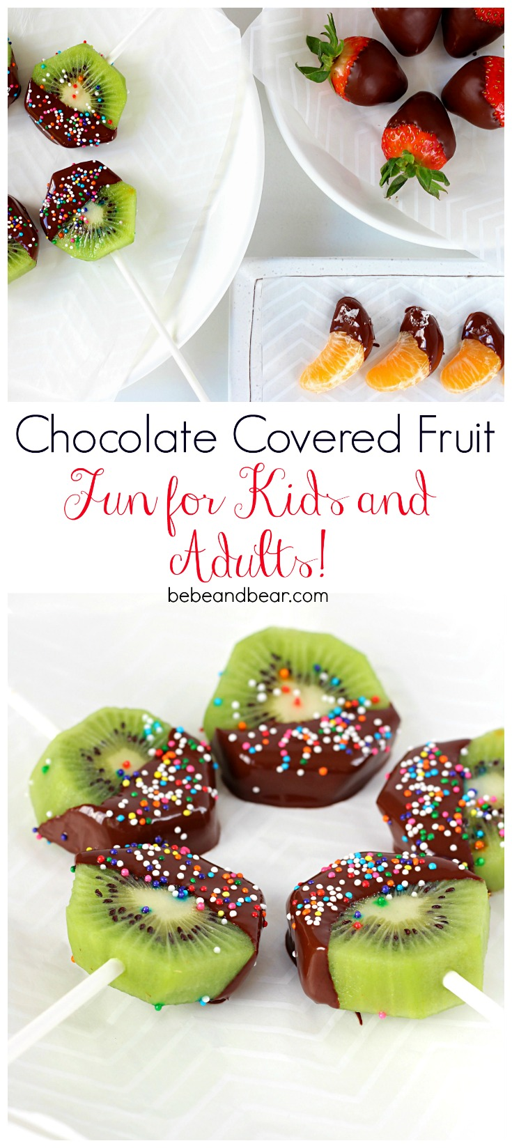 Chocolate covered Fruit: Easy Dessert Ideas for kids and adults.