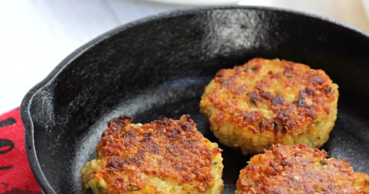 Quinoa Patties with Parmesan and Chives