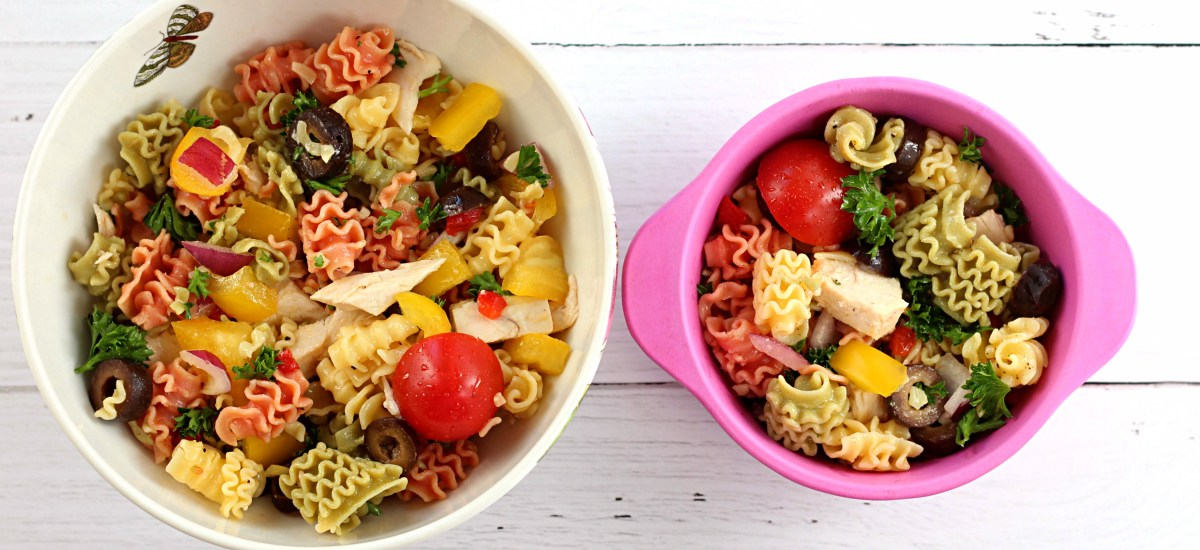 Quinoa Pasta Salad with Roasted Chicken