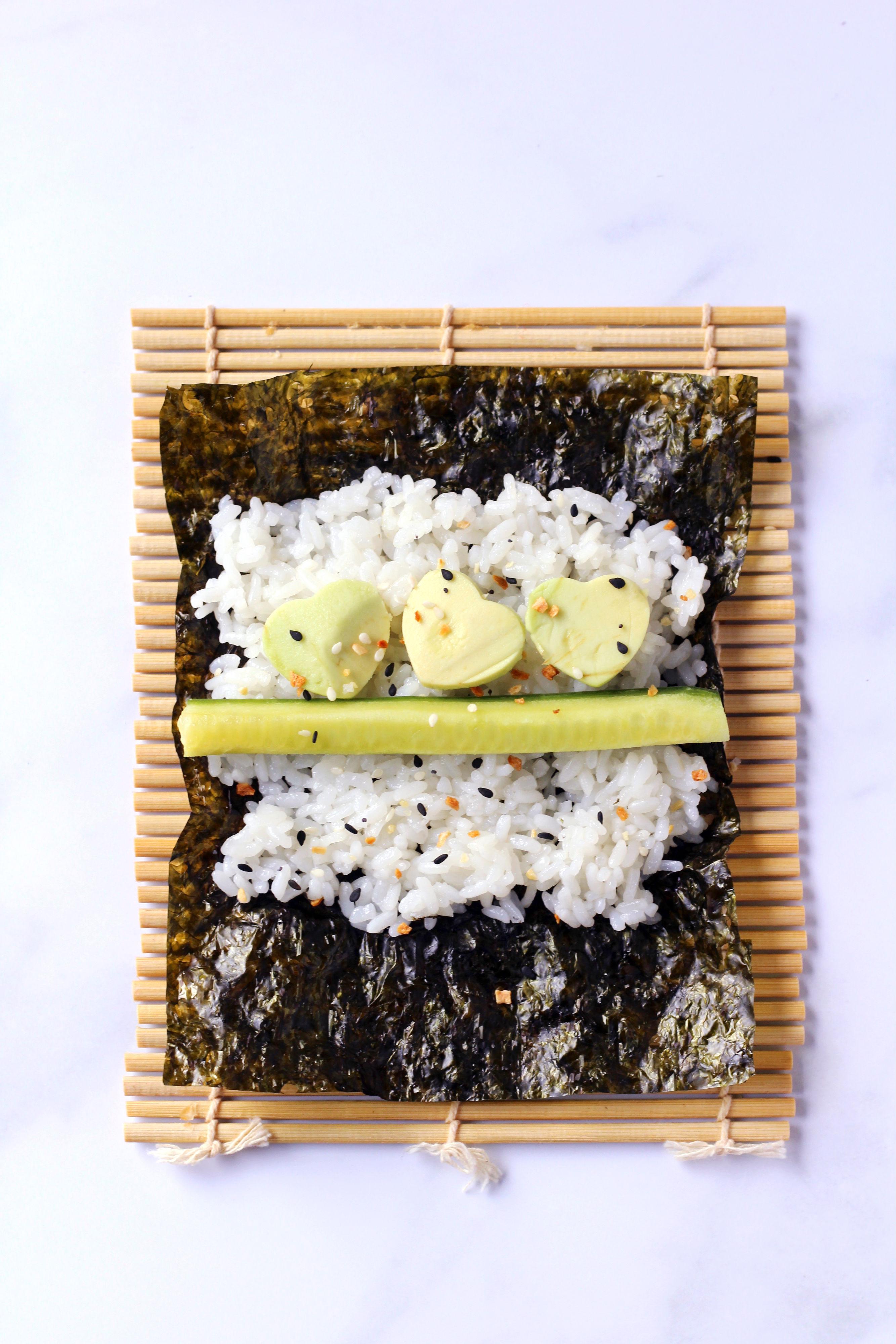 Easy Vegetarian Sushi Rolls for Kids