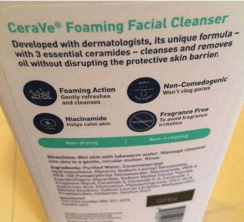 CeraVe Foaming Facial Cleanser features