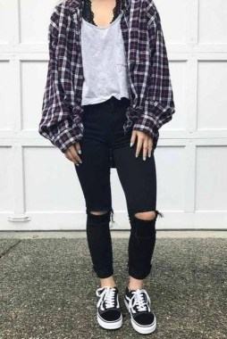 Casual And Stylish Fall School Outfits Ideas For Teens 16
