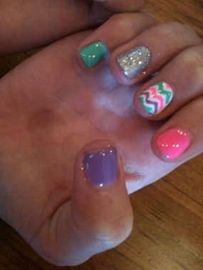 Cute Spring Nail Design Ideas With Bright Colour 07 2