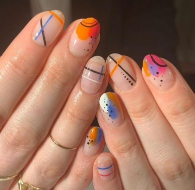 Cute Spring Nail Design Ideas With Bright Colour 09 2