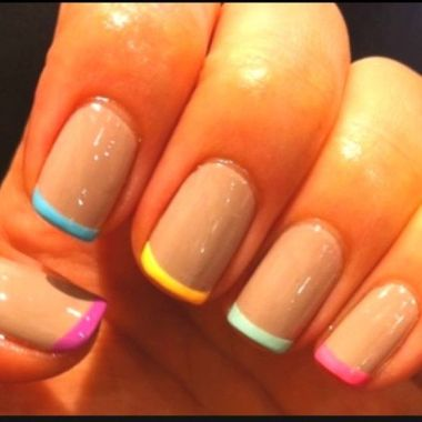 Cute Spring Nail Design Ideas With Bright Colour 36